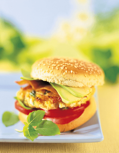 recette hamburger de poulet