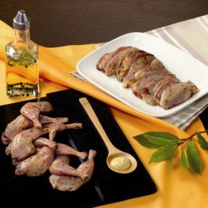 filet de caille et cuisses de caille