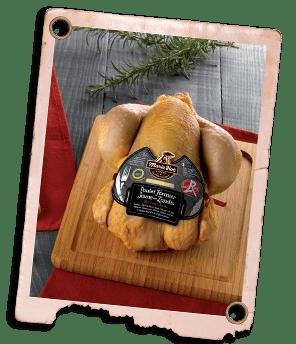 poulet fermier des landes prêt à cuire