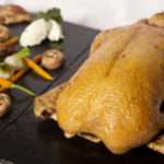 Ducks stuffed with girolle and chanterelle mushrooms