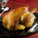 Roasted Label Rouge pullet with white wine