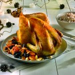 Poularde rôtie aux fruits d'hiver